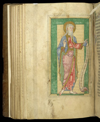 Full-Page Miniature of St. John the Evangelist, In 'The Sherborne Cartulary'